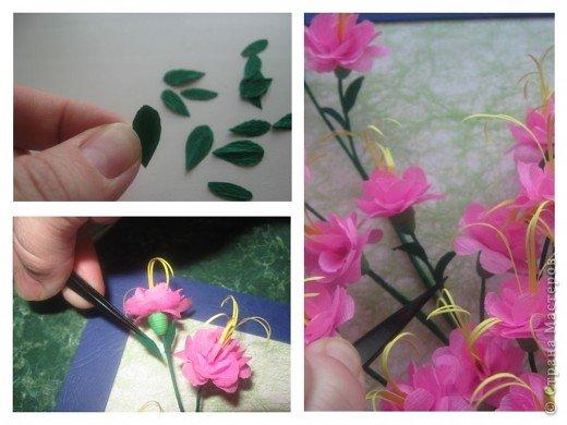 Дорогие Мастерицы,я занялась селекцией!У меня получилось что-то между японской сакурой и нашим багульником ( У нас его еще называют моральником). Так как цветы эти все-таки фантазийные, то и название я им дала соответствующее.  фото 10