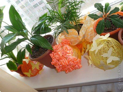 Украшаем подоконники или пополнение коллекции ниточных шаров)))) фото 1