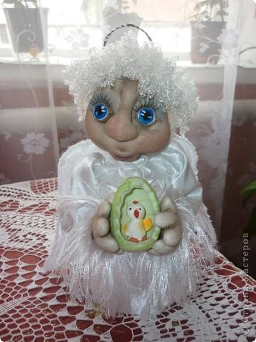 Сделала в подарок  коллеге по работе в её коллекцию ангелов фото 3