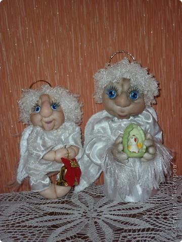 Сделала в подарок  коллеге по работе в её коллекцию ангелов фото 7