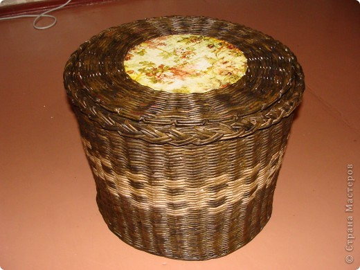 Накопилось много ниток для вязания, которые были разбросаны повсюду.... Вот и захотелось их как то собрать в кучу ) фото 1