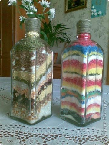 Бутылки с крупами и солью фото 2