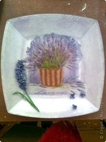 Лавандовая тарелочка фото 1