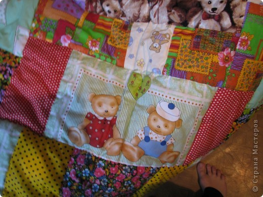 Детское лоскутное одеяло фото 4