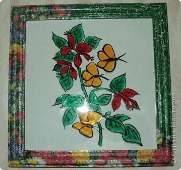 Стеклянная баночка оформлена с использованием декупажа и акриловых красок. фото 3