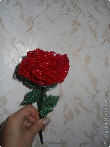 Роза из бисера фото 2