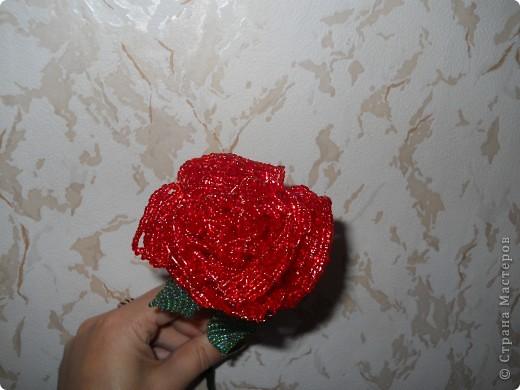 Роза из бисера фото 3
