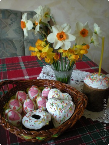 Яйца украшаю бумажными салфетками. фото 3
