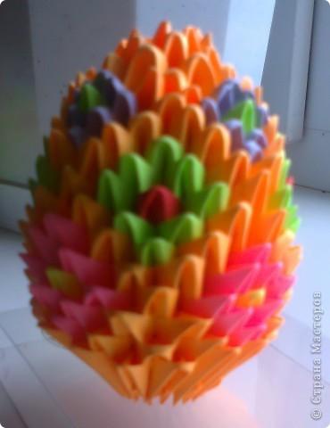 Первая поделка в технике модульного оригами фото 2