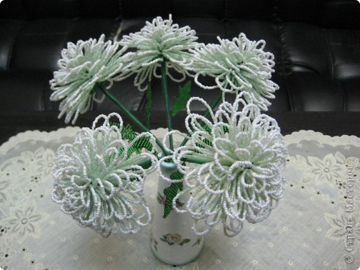 Хризантемы+ваза декупаж фото 1