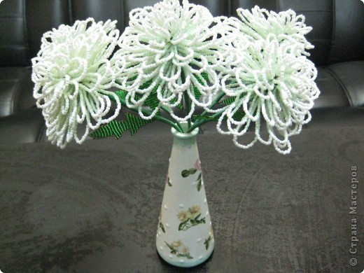 Хризантемы+ваза декупаж фото 3
