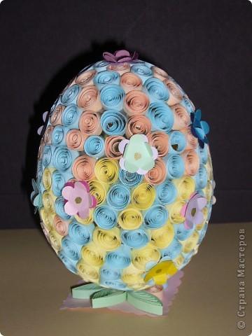 Пасхальное яйцо в технике квиллинг фото 1