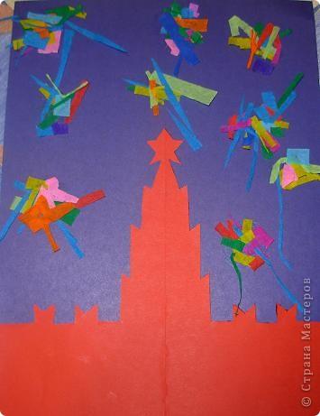 Коллективная работа детей 4 лет. Памятник я вырезала. фото 3