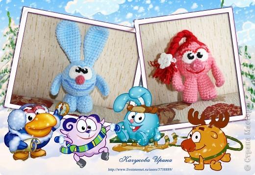 В подарок малышке связала популярных мульт-героев Смешариков (Нюшу и Кроша).   фото 5