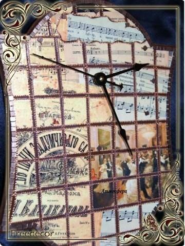Часы в технике «бумажная мозаика»