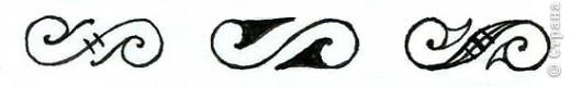 """Всем добрый день! Начало: Введение 1 http://stranamasterov.ru/node/187189 Введение 2 http://stranamasterov.ru/node/187435 Урок 1 http://stranamasterov.ru/node/187799 Урок 2 http://stranamasterov.ru/node/188393 Урок 3 http://stranamasterov.ru/node/188553 Урок 4 http://stranamasterov.ru/node/189065  Элемент """" Завиток"""" На рисунке показано как нужно рисовать этот рисунок, назовем буквой S. Завитки могут идти в одну сторону, а могут и в другую. Все зависит от Ваших пожеланий.   фото 5"""