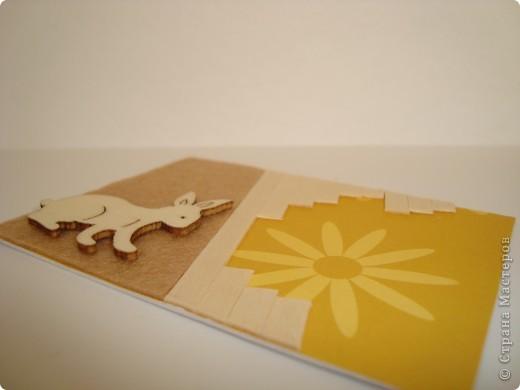 Для карточек использовала деревянные тонкие реечки, деревянных зайчиков, фетр, бумагу. Это моя первая попытка. Спасибо, Александра (k.aktus)! фото 6