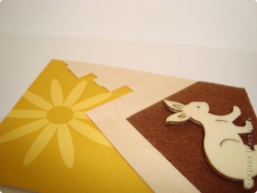 Для карточек использовала деревянные тонкие реечки, деревянных зайчиков, фетр, бумагу. Это моя первая попытка. Спасибо, Александра (k.aktus)! фото 10