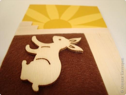 Для карточек использовала деревянные тонкие реечки, деревянных зайчиков, фетр, бумагу. Это моя первая попытка. Спасибо, Александра (k.aktus)! фото 8