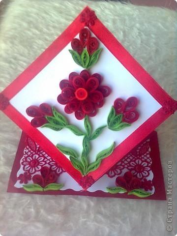 червено цвете фото 1