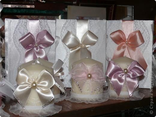 Первый опыт декора свечей и дневников невест (блокнотики) фото 1