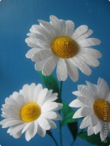 Эксперементирую в изготовлении разных цветочков.На этот раз- ромашки. В планах сделать букет полевых цветов. фото 2