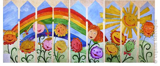 Начало нашего забора нарисовала педагог дополнительного образования Козлитина Наталия Владимировна. А дальше - работы детей. фото 12