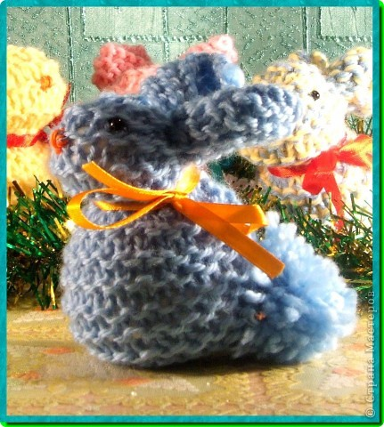 мои вязаные грызуны (зайчатки) фото 3