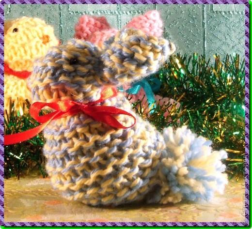 мои вязаные грызуны (зайчатки) фото 7