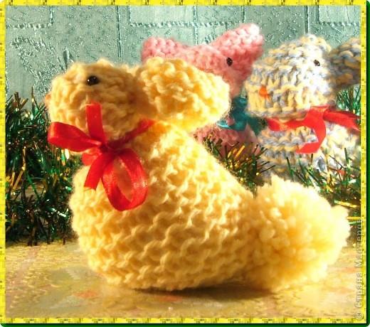 мои вязаные грызуны (зайчатки) фото 5