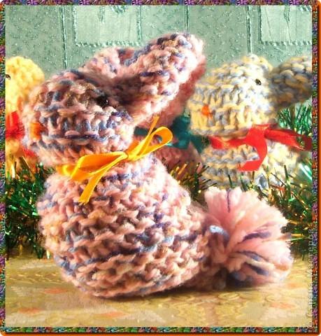 мои вязаные грызуны (зайчатки) фото 6