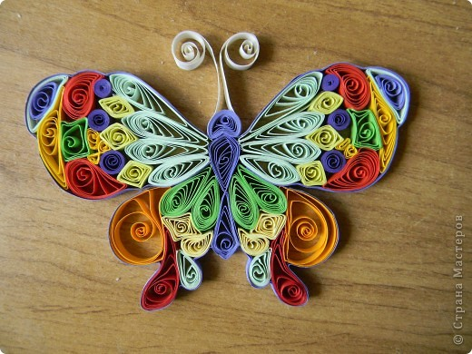 Моя первая бабочка.Я не думала что получится так красиво! фото 1