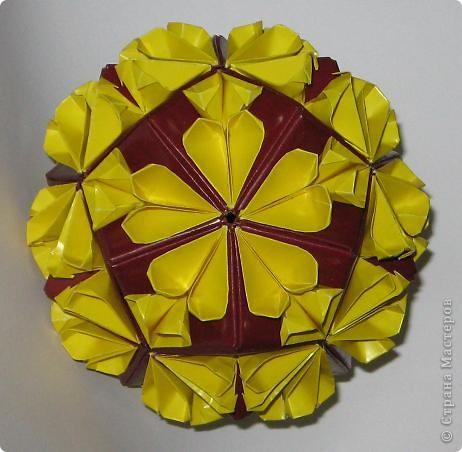 Привет! 5 intersecting tetrahedra, автор: Thomas Hull Эта штуковина покорилась мне со второго раза /первая попытка была безжалостно измята и отправлена в корзину.  фото 3
