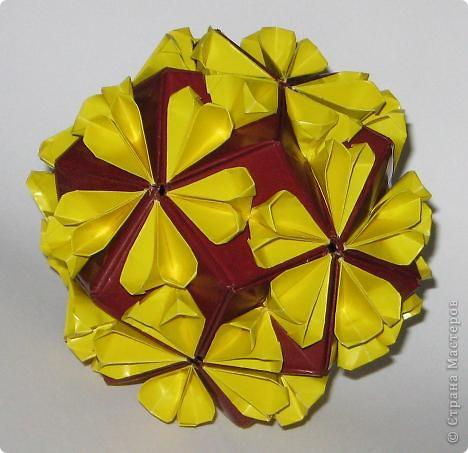 Привет! 5 intersecting tetrahedra, автор: Thomas Hull Эта штуковина покорилась мне со второго раза /первая попытка была безжалостно измята и отправлена в корзину.  фото 4