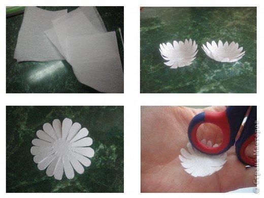 Эксперементирую в изготовлении разных цветочков.На этот раз- ромашки. В планах сделать букет полевых цветов. фото 7