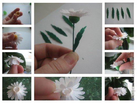 Эксперементирую в изготовлении разных цветочков.На этот раз- ромашки. В планах сделать букет полевых цветов. фото 8