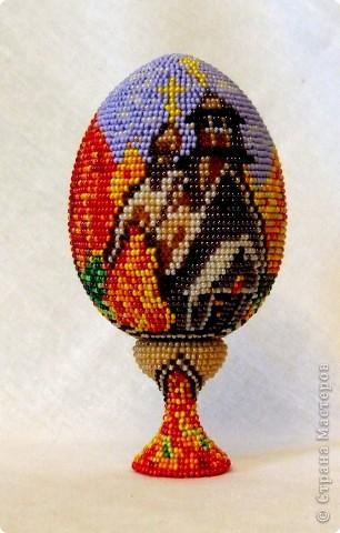 """сувенирное яйцо из бисера """"осень"""" фото 1"""