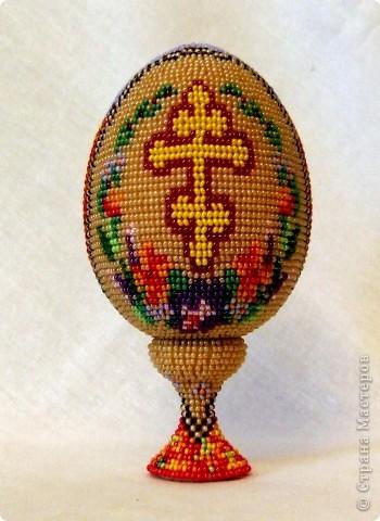 """сувенирное яйцо из бисера """"осень"""" фото 2"""
