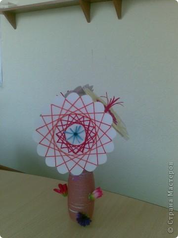 Такие веселые цветы сделали с детками за два занятия. фото 8