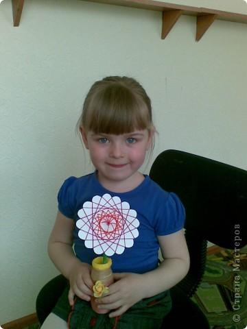 Такие веселые цветы сделали с детками за два занятия. фото 6