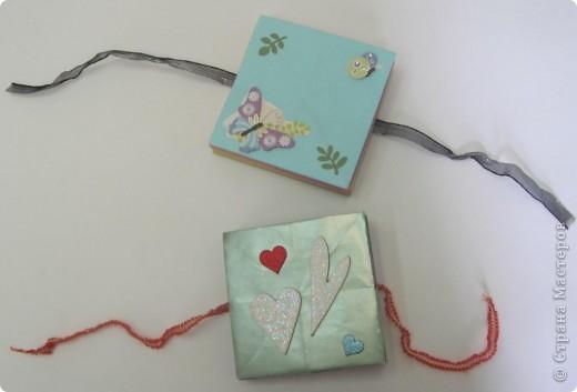 Мини-альбомчики для фото на завязочках. фото 4