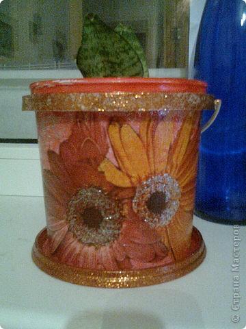 горшки для цветов из майонезных ведер фото 3