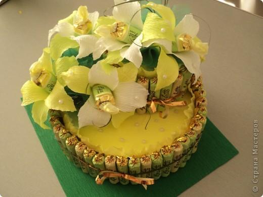Тортик из конфеток фото 1