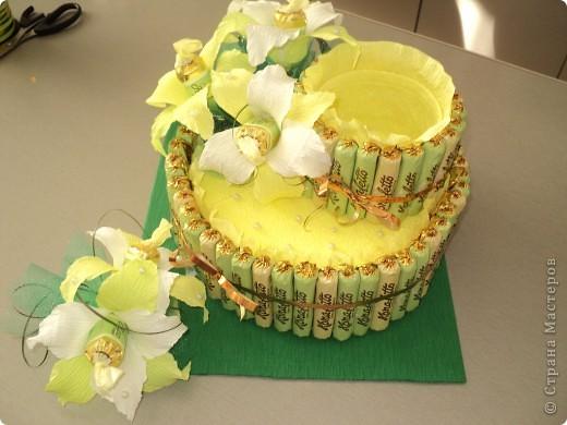 Тортик из конфеток фото 2