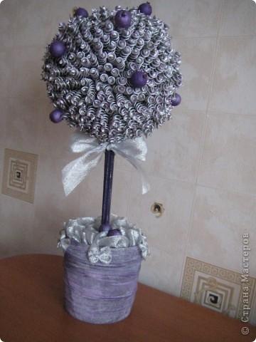 Вот такое серебрянно-фиолетовое деревце у меня получилось!!! фото 1