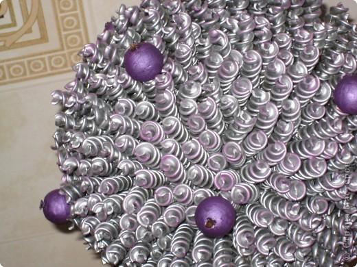 Вот такое серебрянно-фиолетовое деревце у меня получилось!!! фото 2