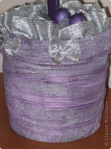 Вот такое серебрянно-фиолетовое деревце у меня получилось!!! фото 4