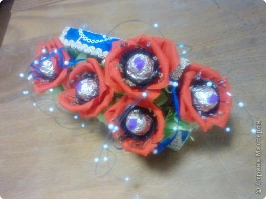 И снова букет сладких маков. Делала подарок на день рождения. фото 1
