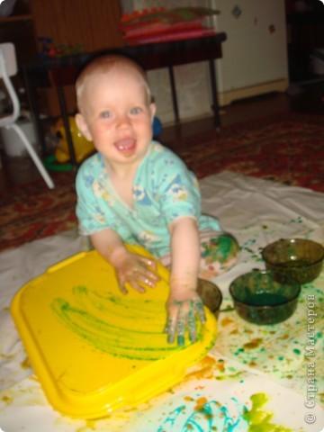 художества,рисуем каляки и сгибаем листочек,потом разворачиваем фото 2