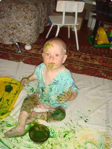 художества,рисуем каляки и сгибаем листочек,потом разворачиваем фото 3
